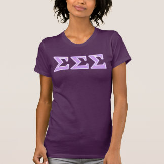 T-shirt Lettres de lavande de sigma de sigma de sigma