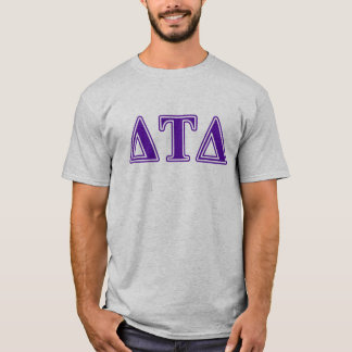 T-shirt Lettres de pourpre de delta de Tau de delta