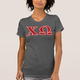 T-shirt Lettres de rouge d'Omega de Chi