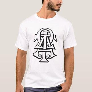 T-shirt Lettres enclenchées par Omega de Tau d'alpha