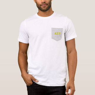 T-shirt Lettres jaunes de Tau d'alpha sigma