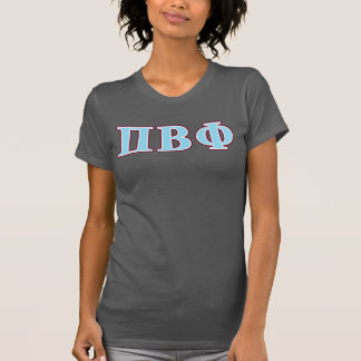 T-shirt Lettres marron et bleues de bêta phi de pi