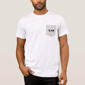 T-shirt Lettres noires d'alpha thêta de Kappa