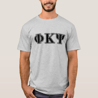 T-shirt Lettres noires de livre par pouce carré de Kappa