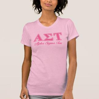T-shirt Lettres roses de Tau d'alpha sigma