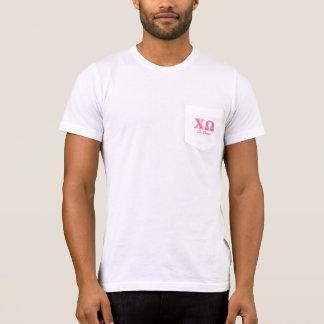 T-shirt Lettres roses d'Omega de Chi