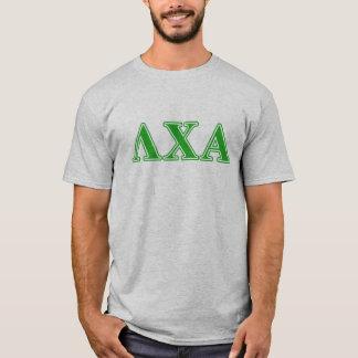 T-shirt Lettres vertes de Chi de lambda alpha