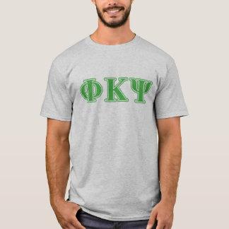 T-shirt Lettres vertes de livre par pouce carré de Kappa