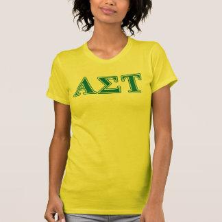 T-shirt Lettres vertes de Tau d'alpha sigma