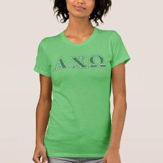 T-shirt Lettres vertes d'Omega de Chi d'Alphi