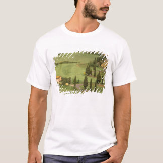 T-shirt L'Europe, Italie, Toscane, Monticchiello. Sinueux