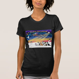T-shirt Lever de soleil de Noël - Gallois Corgies (six)
