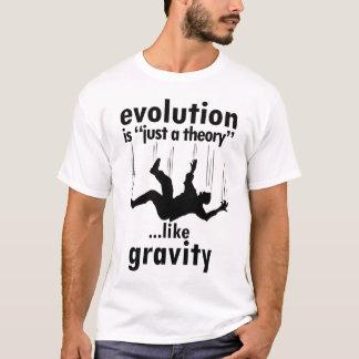T-shirt L'évolution est juste une chemise d'hommes de