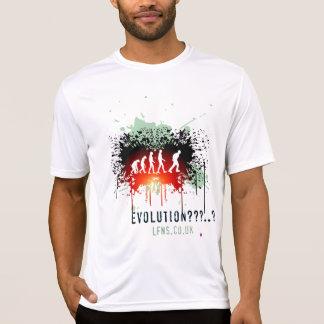 T-shirt L'évolution/gardent à gauche - la fibre de