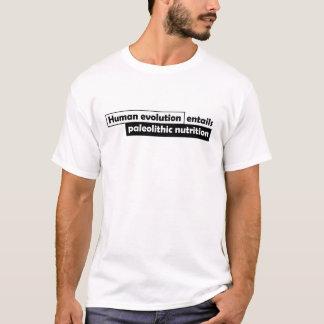T-shirt L'évolution humaine nécessite la nutrition