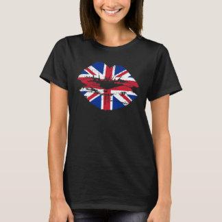 T-shirt Lèvres BRITANNIQUES de drapeau d'Union Jack