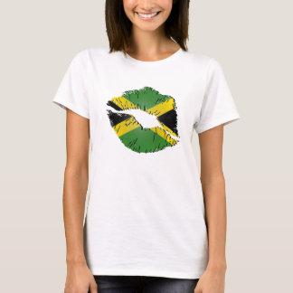 T-shirt Lèvres jamaïcaines de drapeau