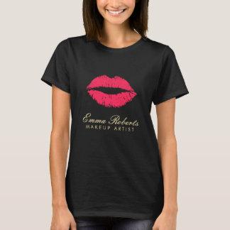 T-shirt Lèvres rouges de maquilleur foncées