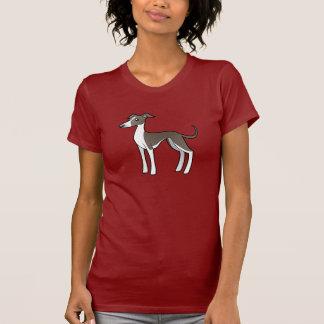 T-shirt Lévrier de bande dessinée/whippet/lévrier italien