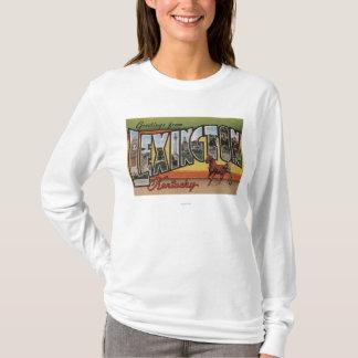 T-shirt Lexington, Kentucky - grandes scènes de lettre