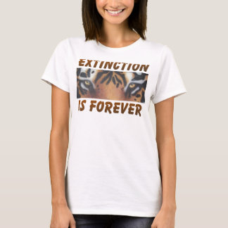 T-shirt L'extinction est forever