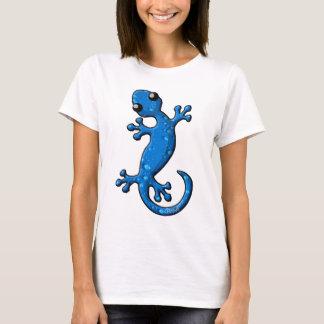 T-shirt Lézard bleu de Gecko de pluie