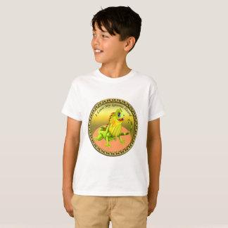 T-shirt Lézard heureux d'iguane de nature de vert adorable