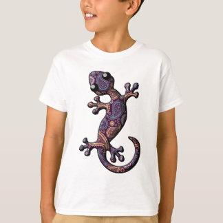 T-shirt Lézard pourpre bleu de Gecko d'escalade