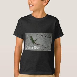 T-shirt Lézard sur le mur en pierre en le Costa Rica Vida