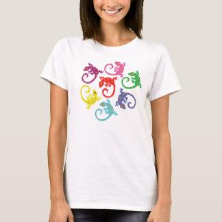 T-shirt Lézards colorés