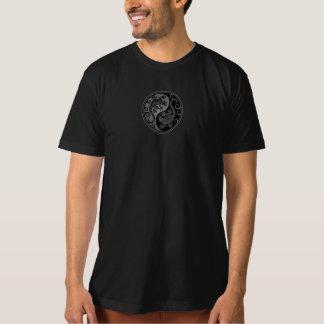 T-shirt Lézards gris et noirs de Yin Yang