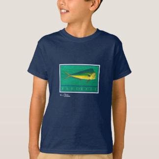 T-shirt L'habillement foncé des enfants de Mahi-Mahi