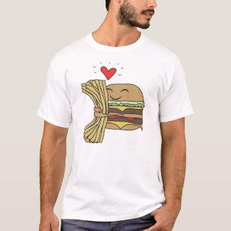 T-shirt L'hamburger aime des fritures