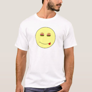 T-shirt L'hamburger observe le smiley
