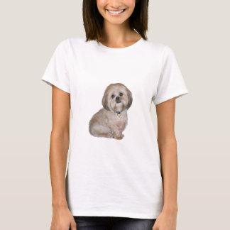 T-shirt Lhasa Apso (a) - d'or/crème