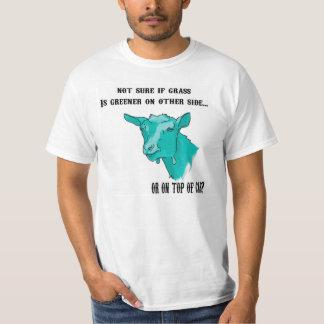 T-shirt L'herbe de chèvre drôle est plus verte (cyan)