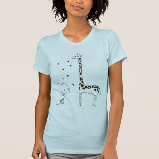 T-shirt L'hippopotame aime la girafe