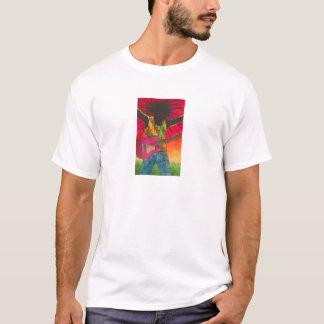 T-shirt L'homme de guitare par Karen chipe le studio