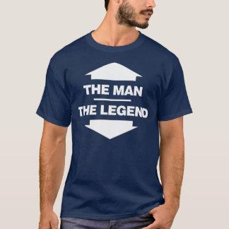 T-shirt L'homme la légende - noir