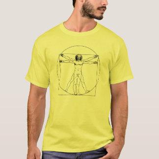 T-shirt l'homme vitruvian de Da Vinci