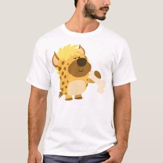T-shirt L'hyène mignonne de bande dessinée écrasant un os