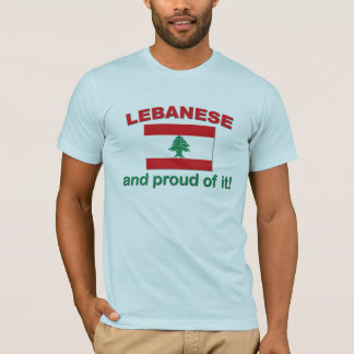 T-shirt Libanais fier