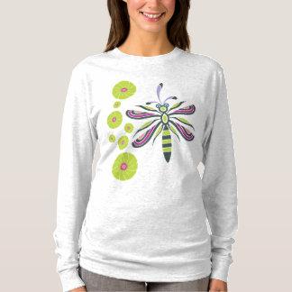 T-shirt Libellule avec des fleurs