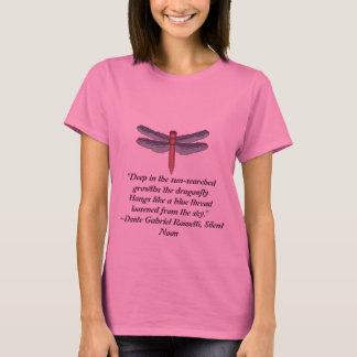 T-shirt Libellule, citation de Dante Gabriel Rossetti