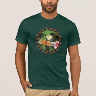 T-shirt Libellule et cercle de Lotus