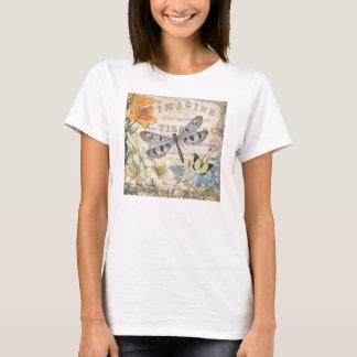T-shirt libellule française vintage moderne