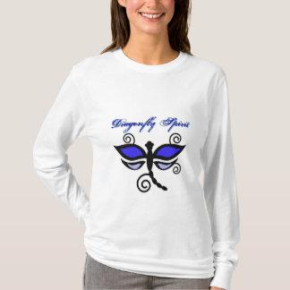 T-shirt Libellules et chemise numériques noires et bleues