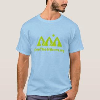 T-shirt Libérez la pièce en t de randonneurs : Bleu/jaune