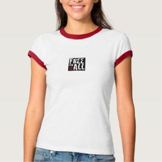 T-shirt Libérez pour la chemise de la sonnerie de toutes