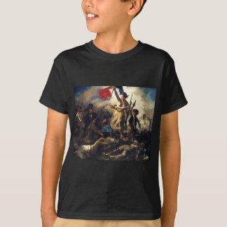 T-shirt Liberté menant les personnes par Eugene Delacroix